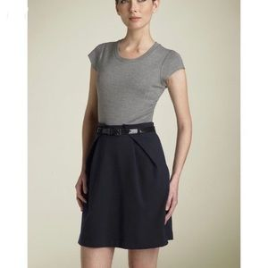 Theory two tone grey/black dress with belt